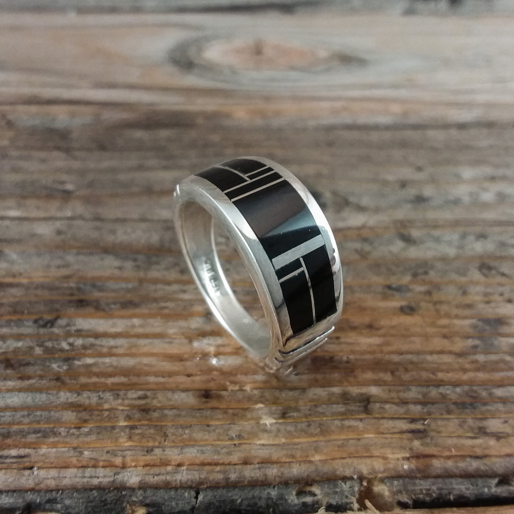 Rick Tolino Inlay Jet Band Ring