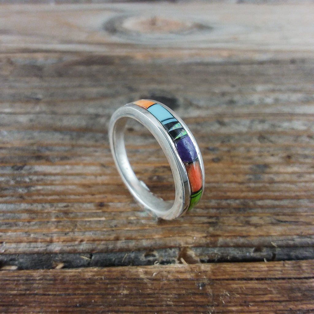 Navajo Multi Inlay Ring