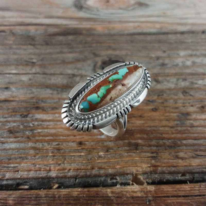 Jeffery Nelson Boulder Turquoise Ring