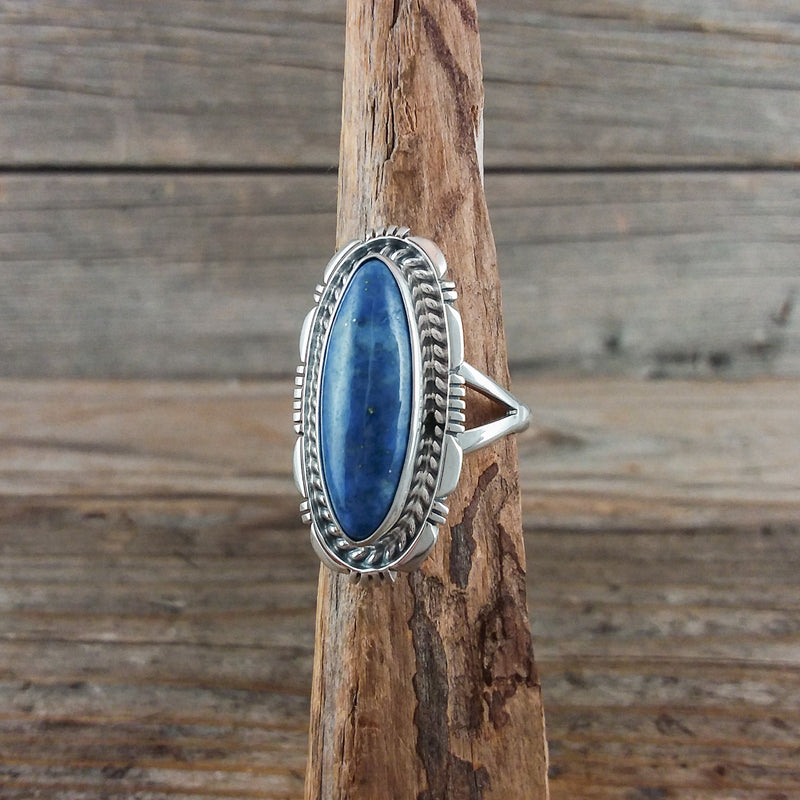Larry Moses Yazzie Lapis Ring