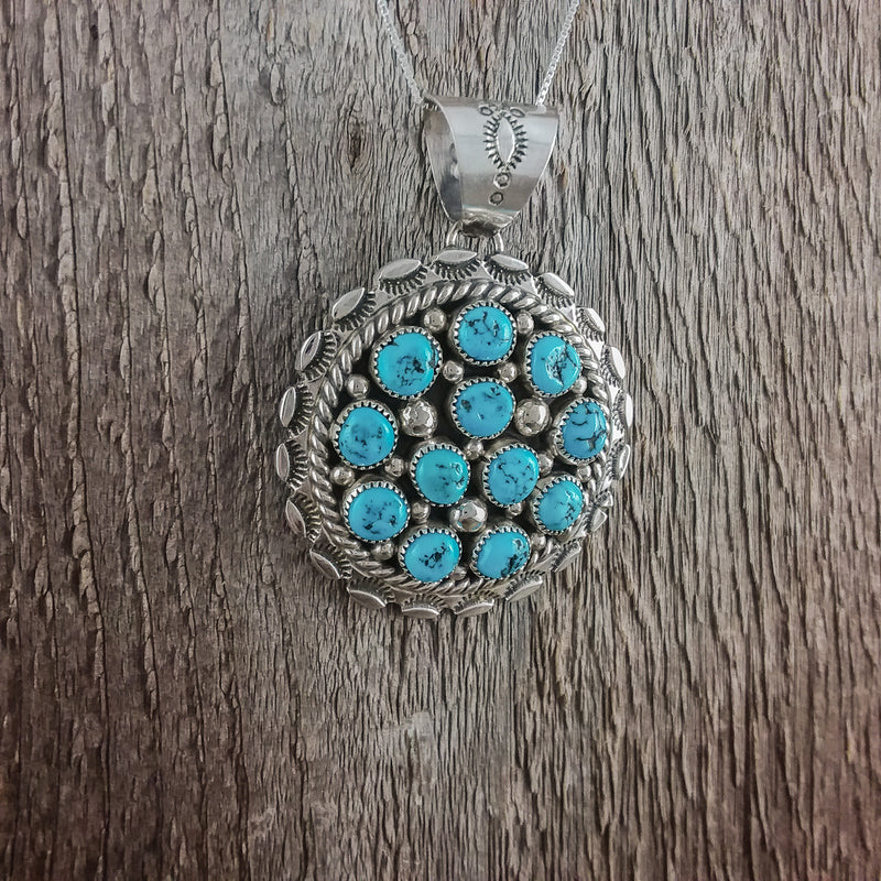 Tina Jones Turquoise Circle Pendant