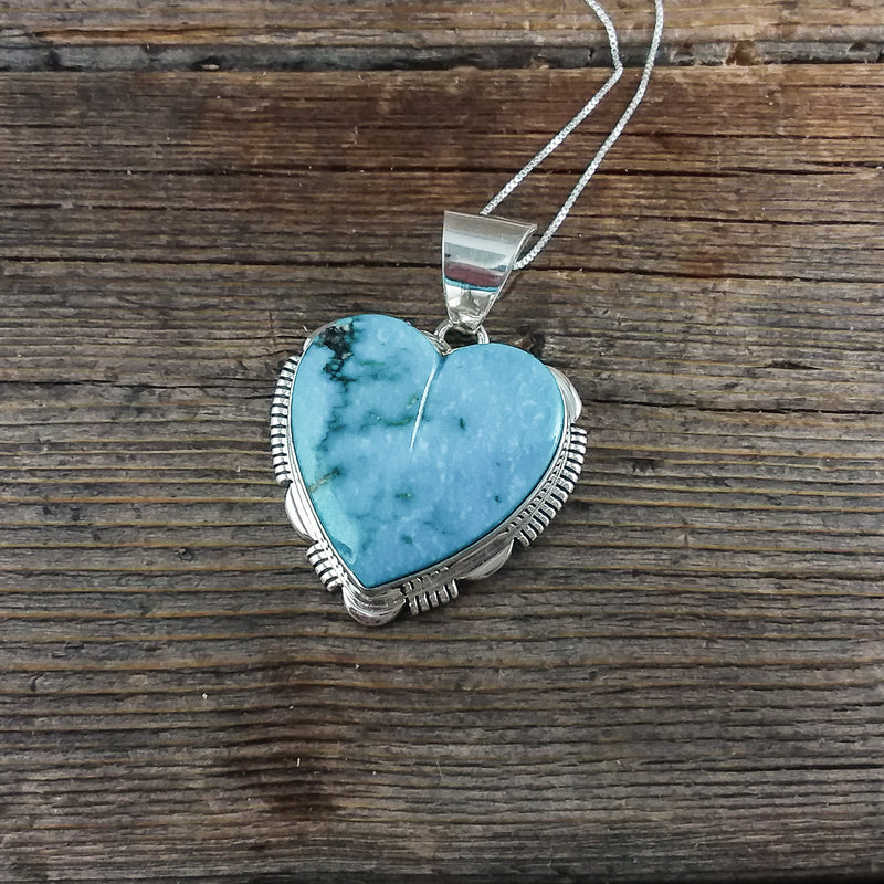 James Lee Turquoise Heart Pendant