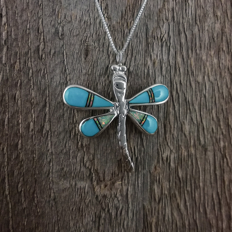 Dragonfly Inlay Pendant