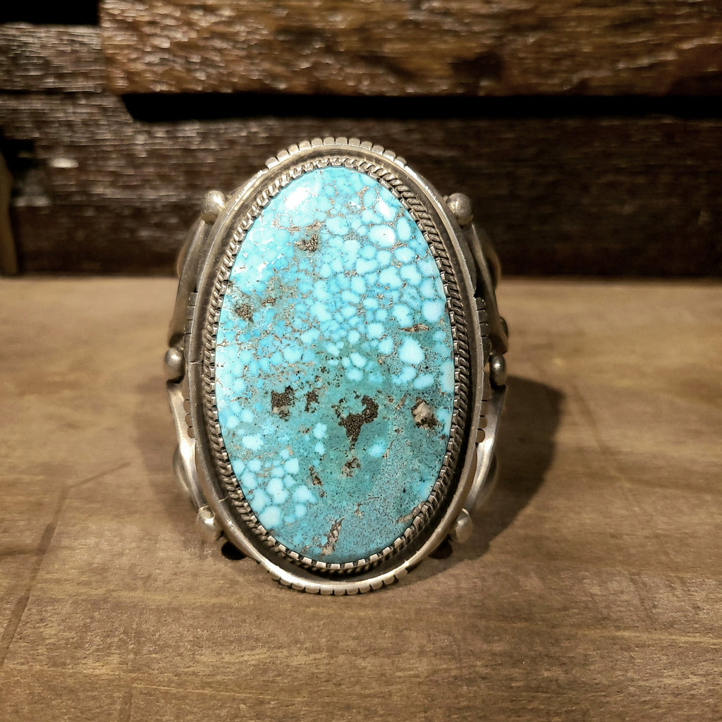 Bird's Eye Kingman Turquoise | Navajo artist Verdy Jake | Native American Indian