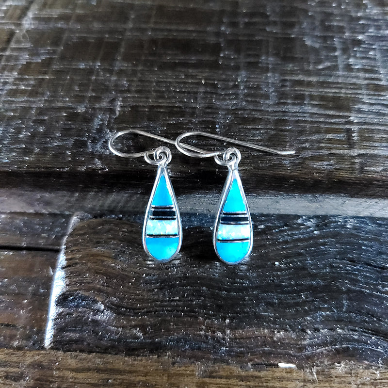 Turquoise | Opal | Sterling Silver - Native American Indian | Navajo - Earrings