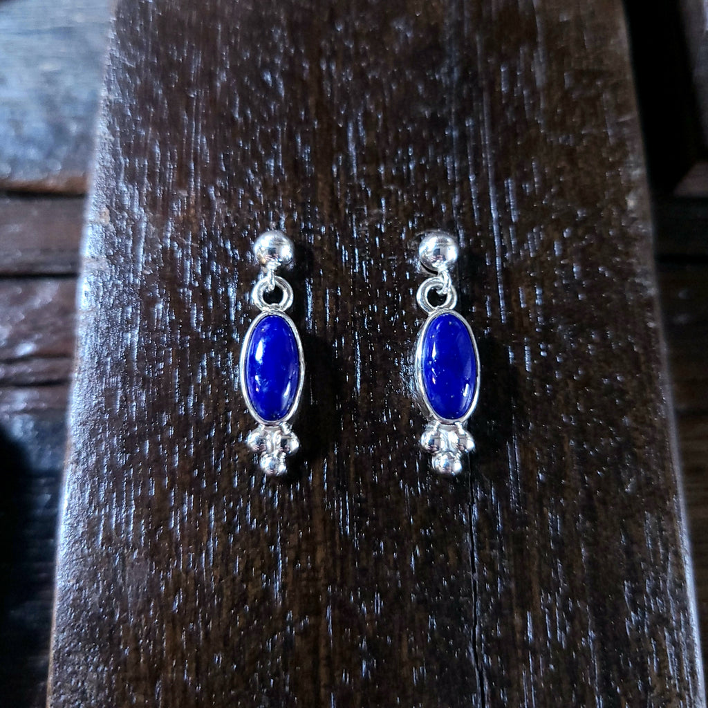 Lapis | Sterling Silver - Navajo | Native American Indian - Earrings