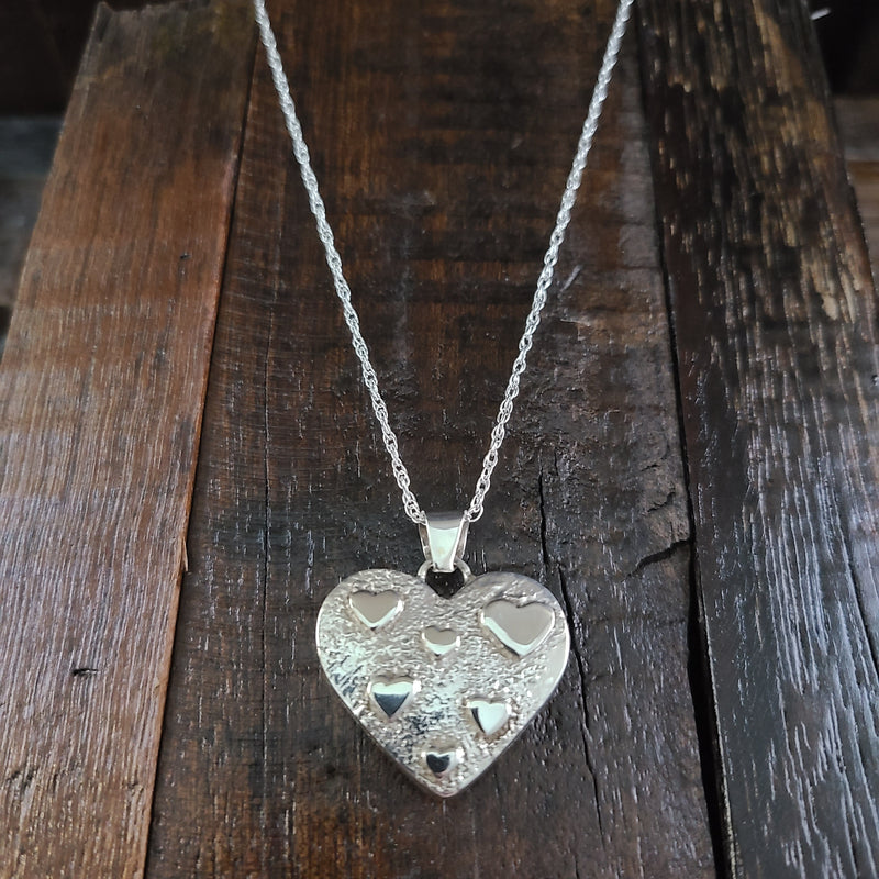 Reversible Inlay Heart Pendant
