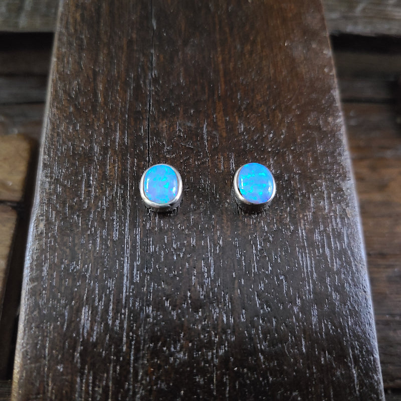 Sheryl Martinez Jet/Opal Earrings