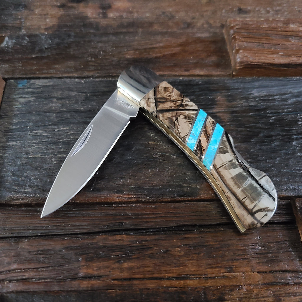 Mammoth Tusk & Turquoise Inlay Knife