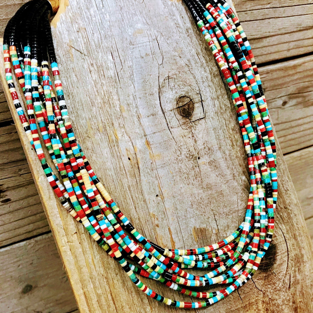 Multi-color Heishi Necklace