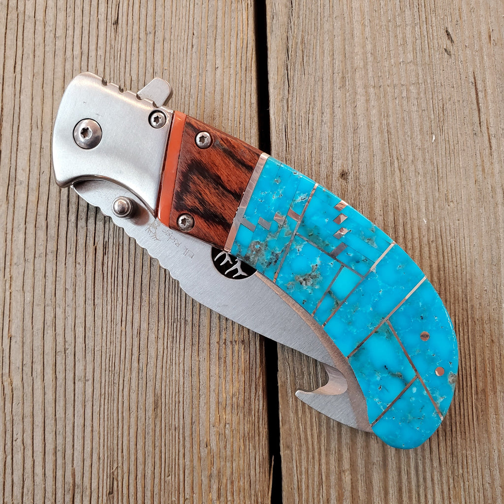 Turquoise Inlay Knife