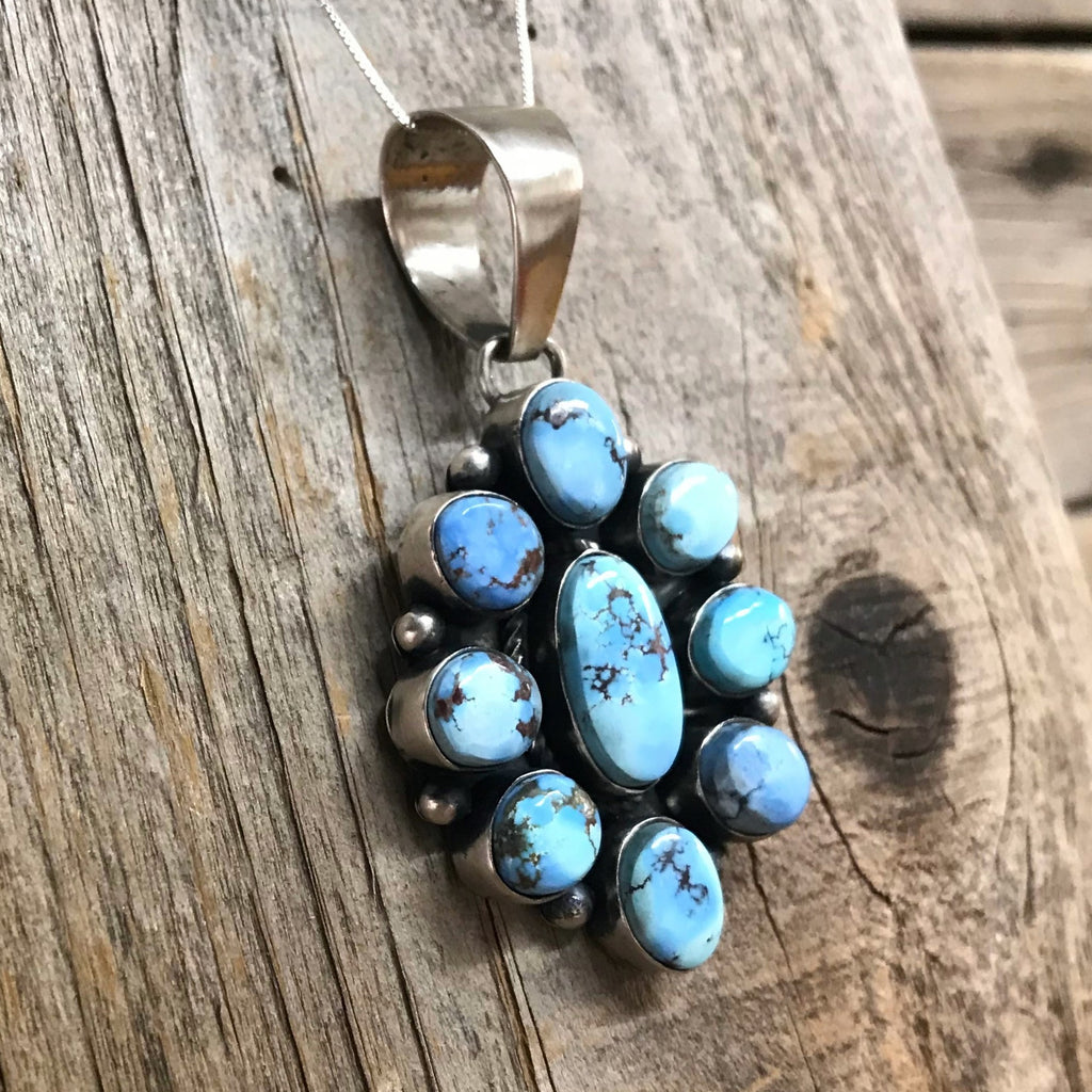 Golden Hill Turquoise Cluster Pendant