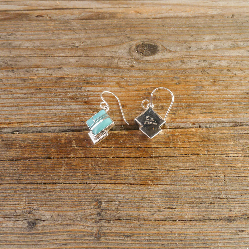Elsie Armstrong Turquoise Inlay Earrings