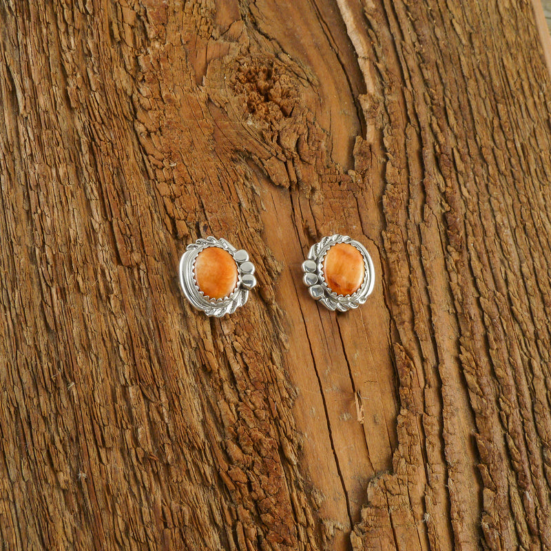 Rhonda Largo Spiny Oyster Shell Stud Earrings