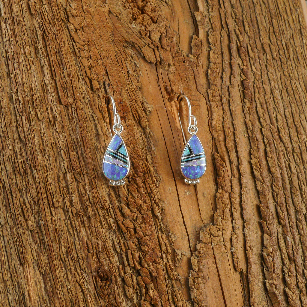Elsie Armstrong Opal Inlay Earrings