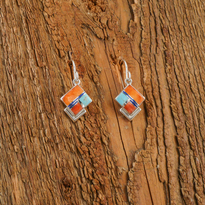 Elsie Armstrong Multi Inlay Earrings