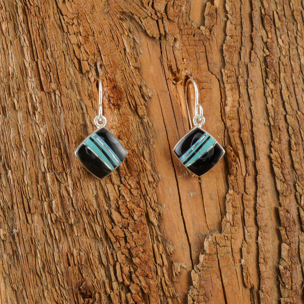 Elsie Armstrong Jet Inlay Earrings