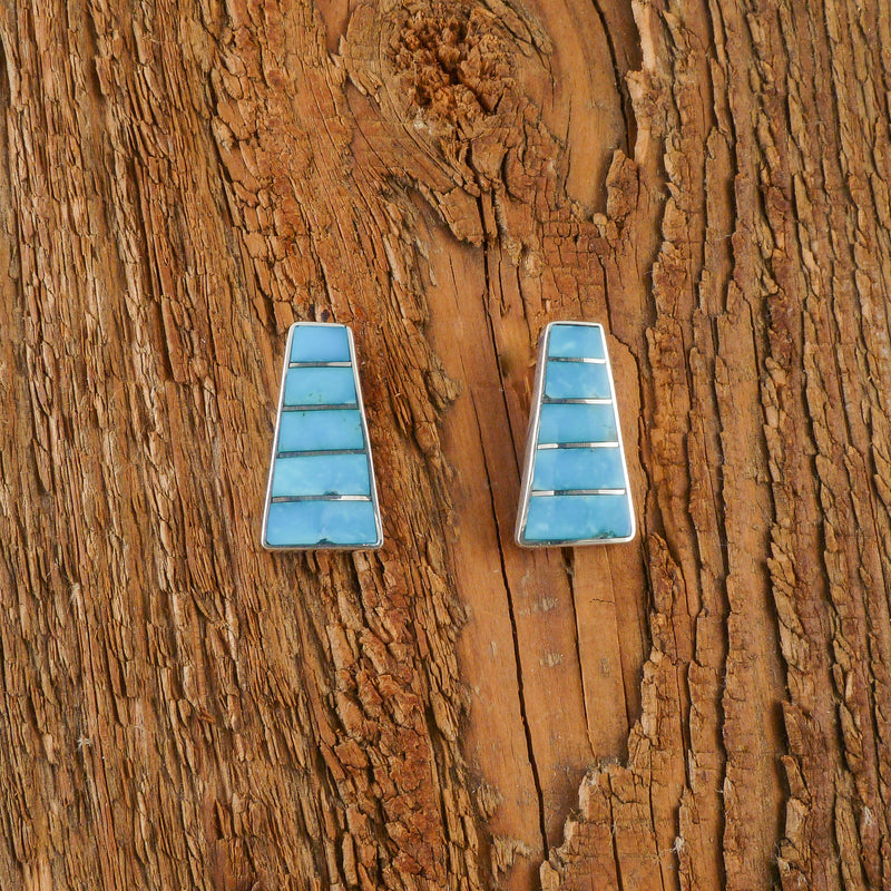 Michelle Haloo Turquoise Inlay Earrings