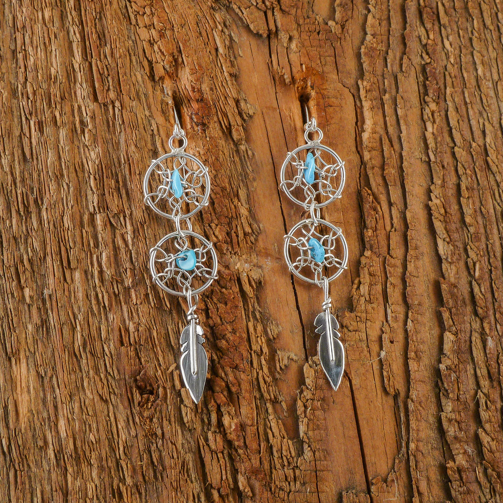 Lorenzo Arviso Turquoise DreamCatcher Earrings