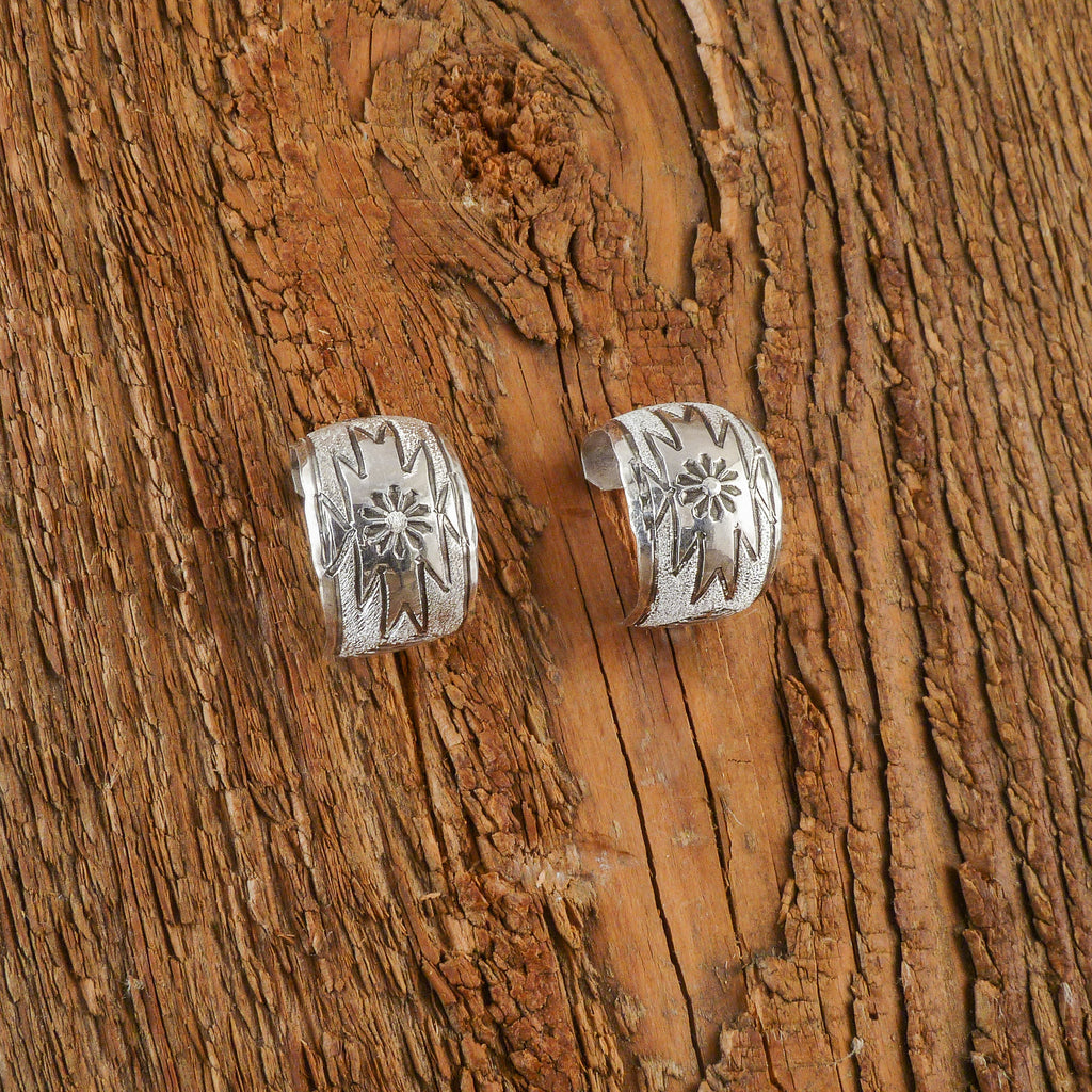 Dolores Cadman Silver Hoop Earrings