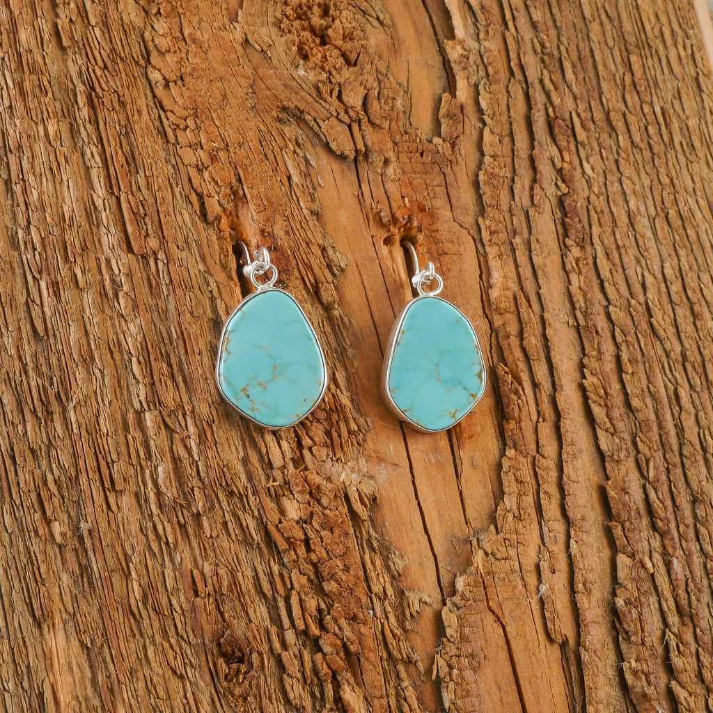 Fred Begay Turquoise Earrings