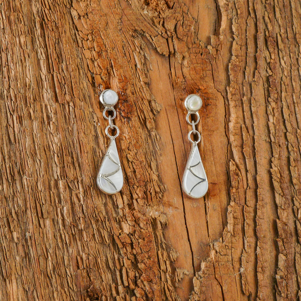 Rosalita Laweka Mother of Pearl Inlay Earrings
