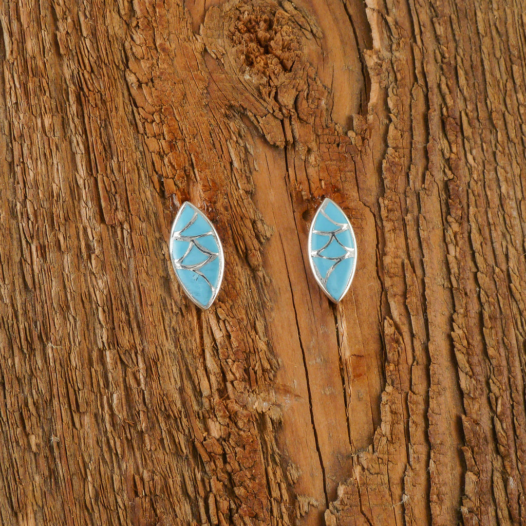 Delvin Leekya Turquoise Inlay Earrings