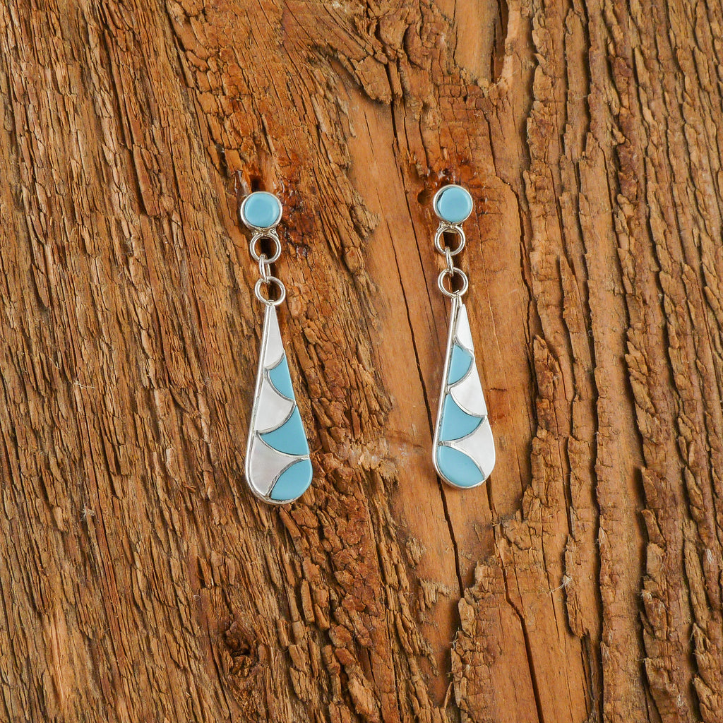 Rosalita Laweka Turquoise/Mother of Pearl Earrings