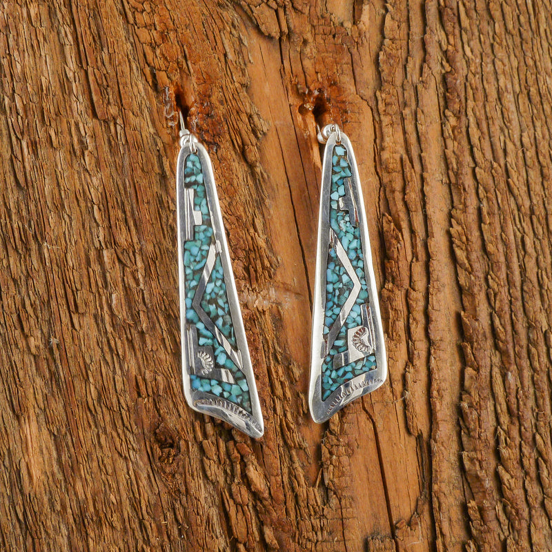 Charlie Singer Turquoise Inlay Earrings