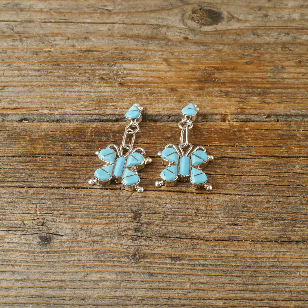 Sylvia Noche Turquoise Butterfly Earrings