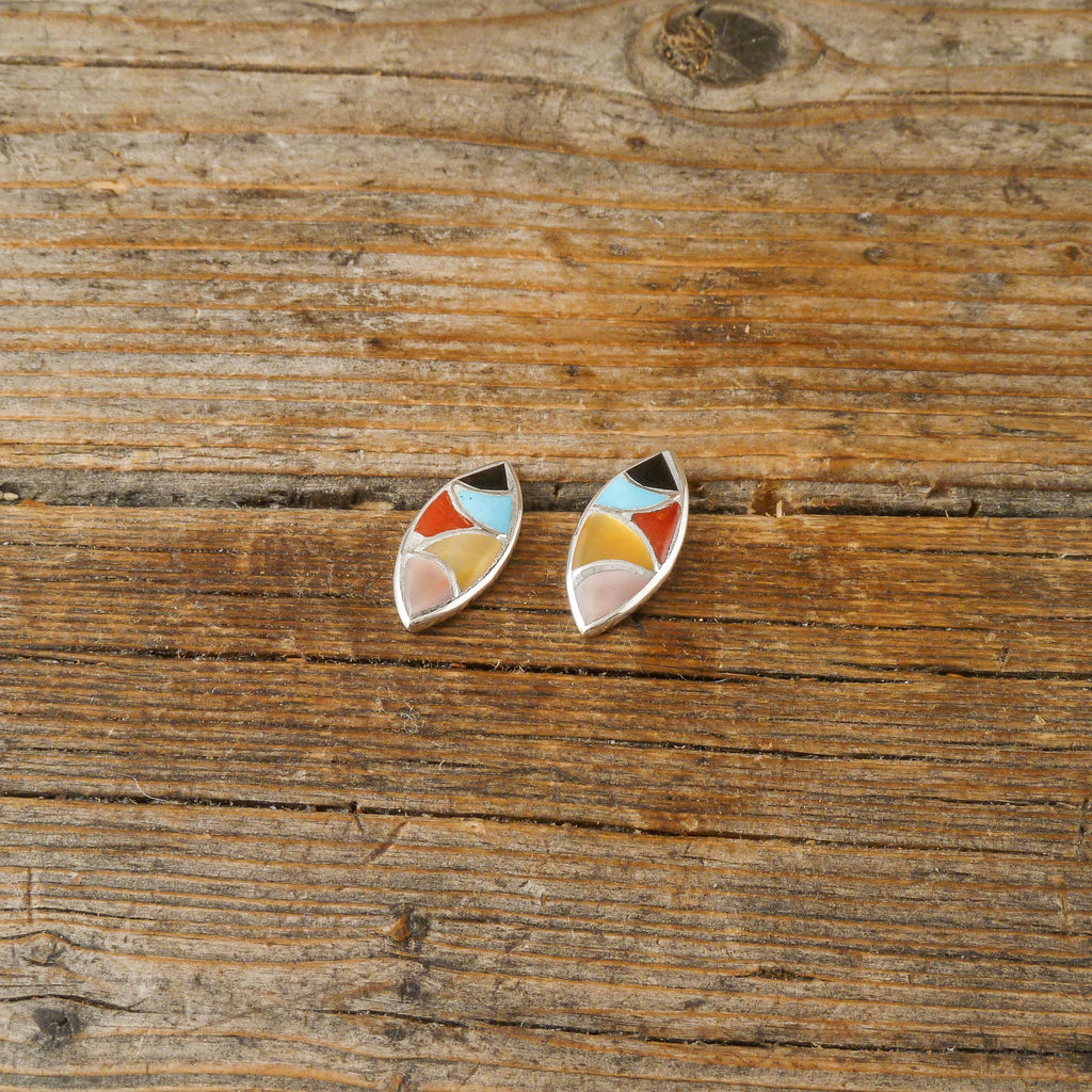 Delvin Leekya Inlay Oval Earrings