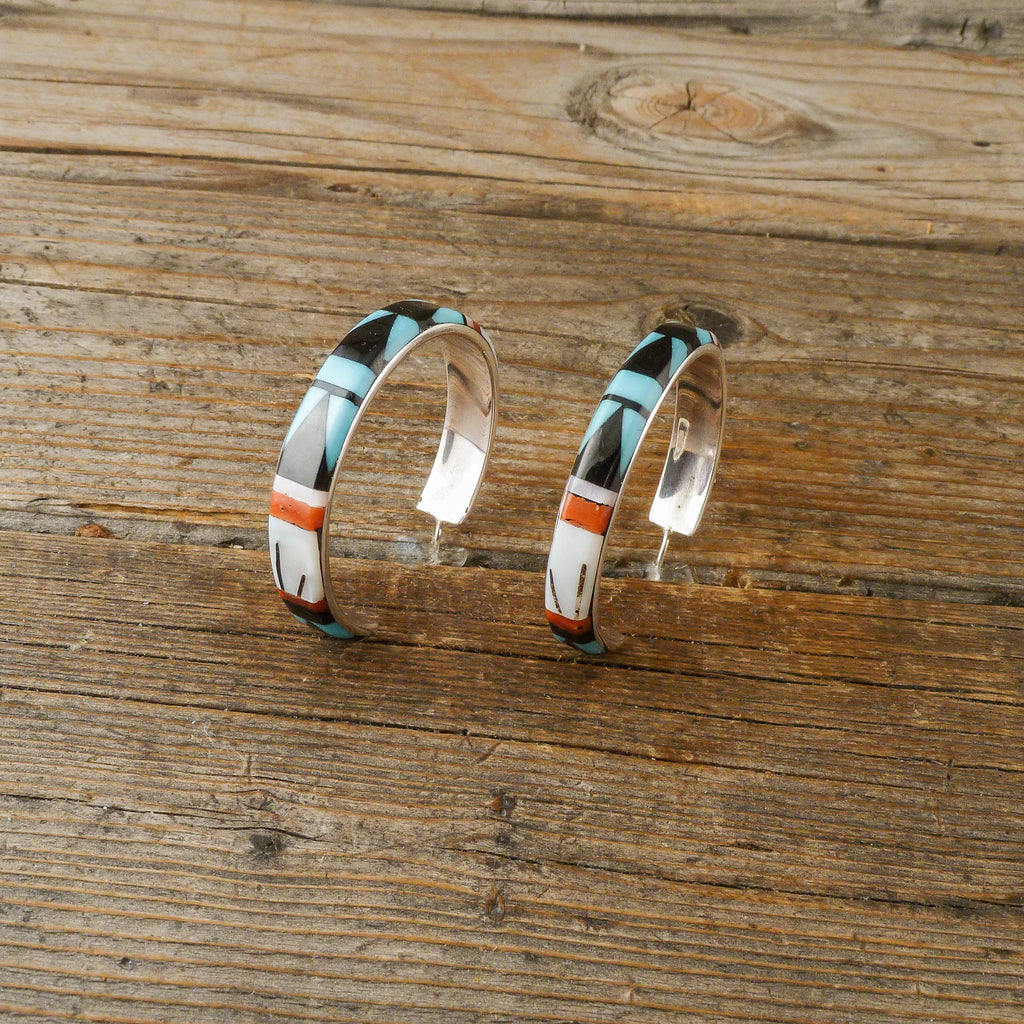 Leif Esalio Inlay Loop Earrings