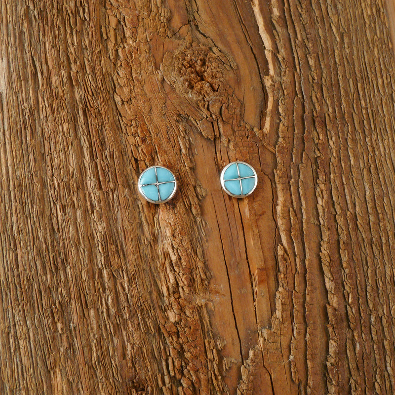 Lily Meloni Round Turquoise Earrings