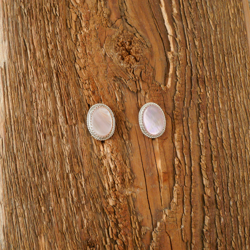 Pricella Lonjose Mother of Pearl Stud Earrings