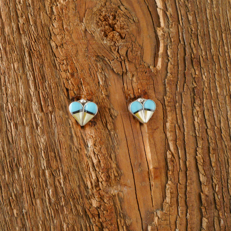 Vernda Niiha Inlay Heart Earrings