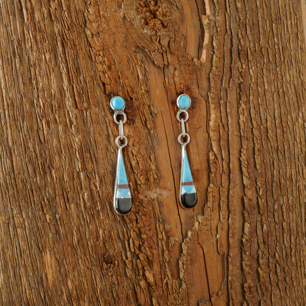 Francis Chapito Inlay Teardrop Earrings