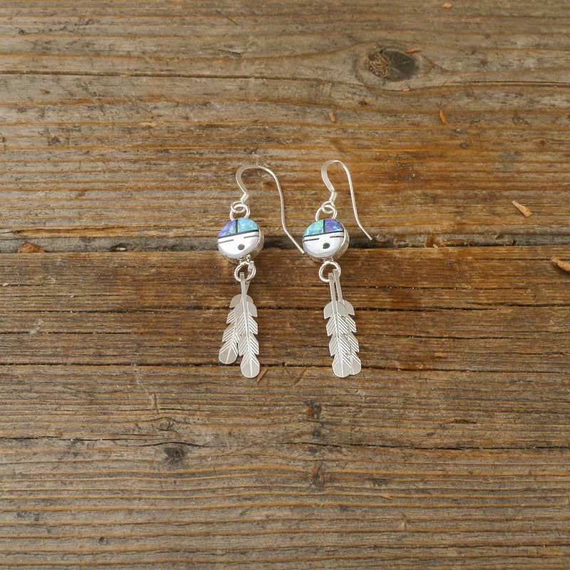 Tyrone Martinez Zuni Sun Face Tassel Earrings