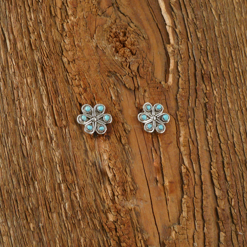 Turquoise Petal Earrings