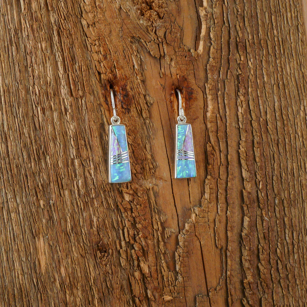 John Charley Opal Inlay Earrings