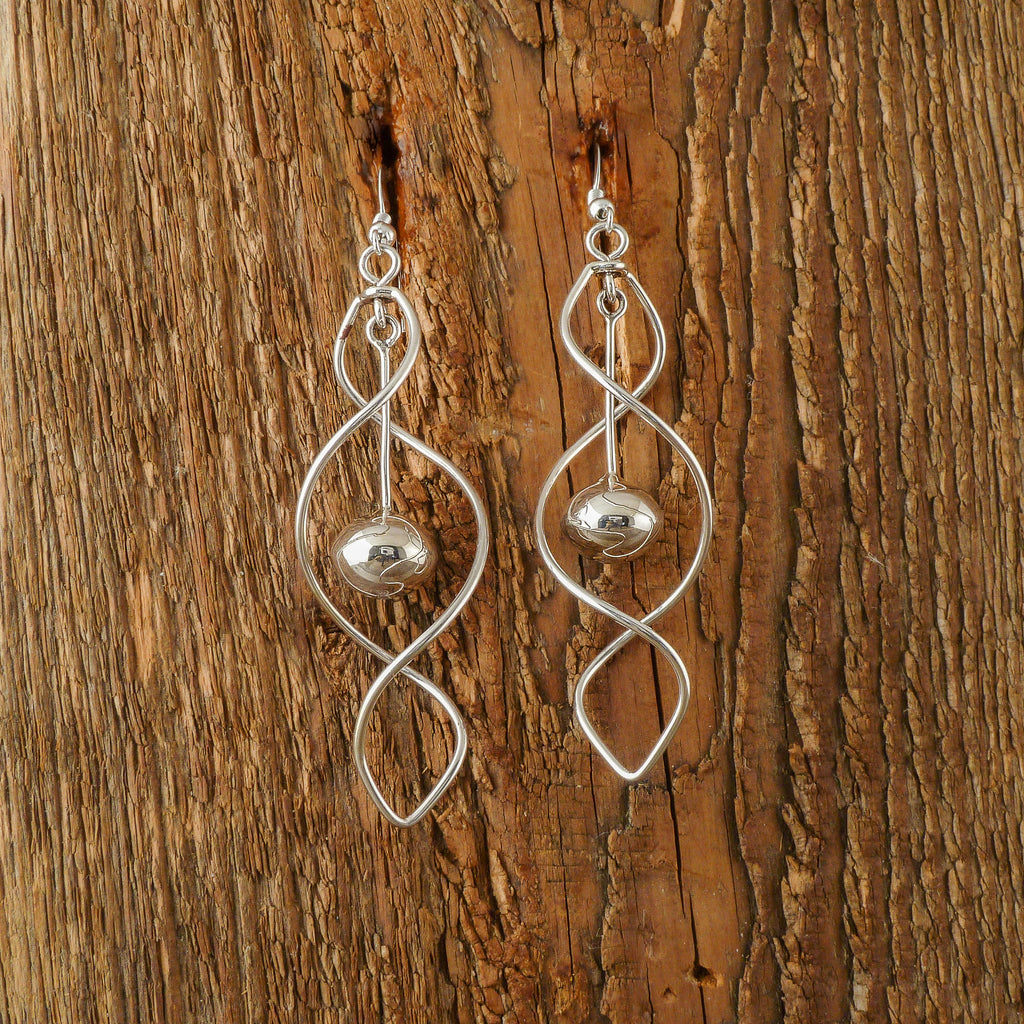 Edith Kee Silver Spiral Earrings