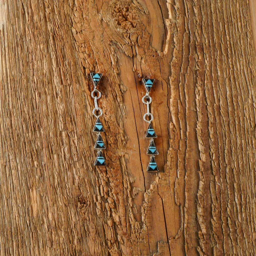 Dexter Chapito Zuni Inlay Earrings