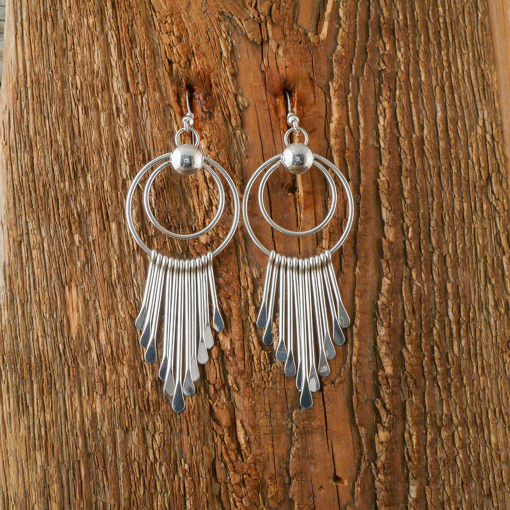 Pauline Armstrong Silver Waterfall Earrings