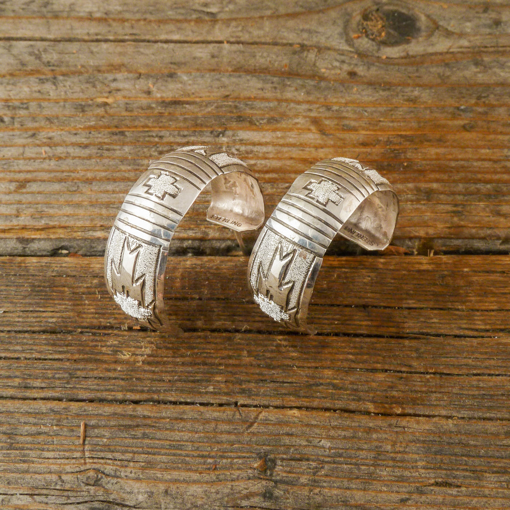 Rhonda Largo Silver Hoop Earrings