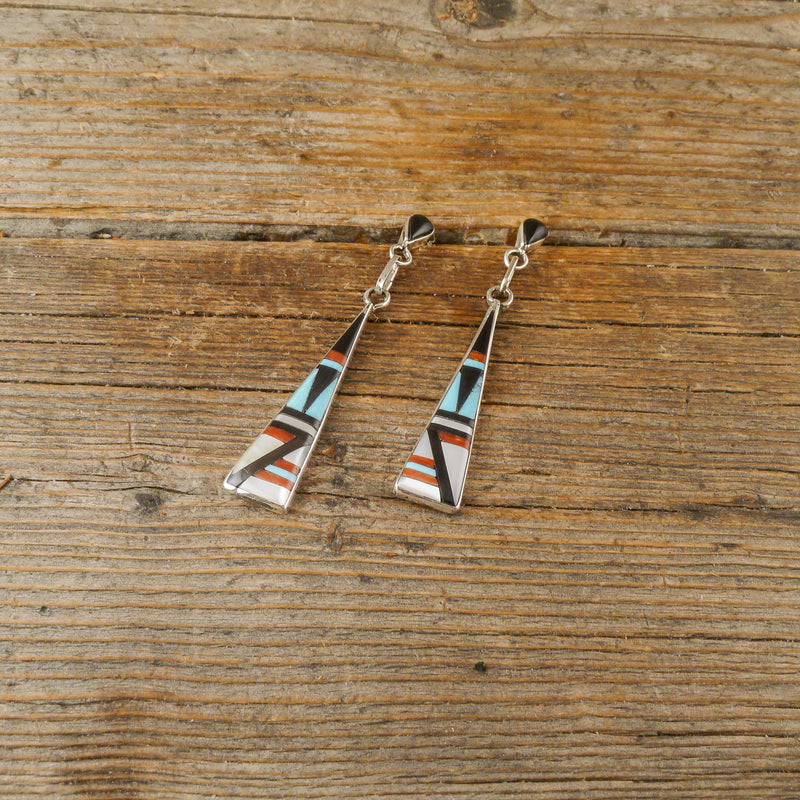 Kathy Boone Zuni Inlay Earrings