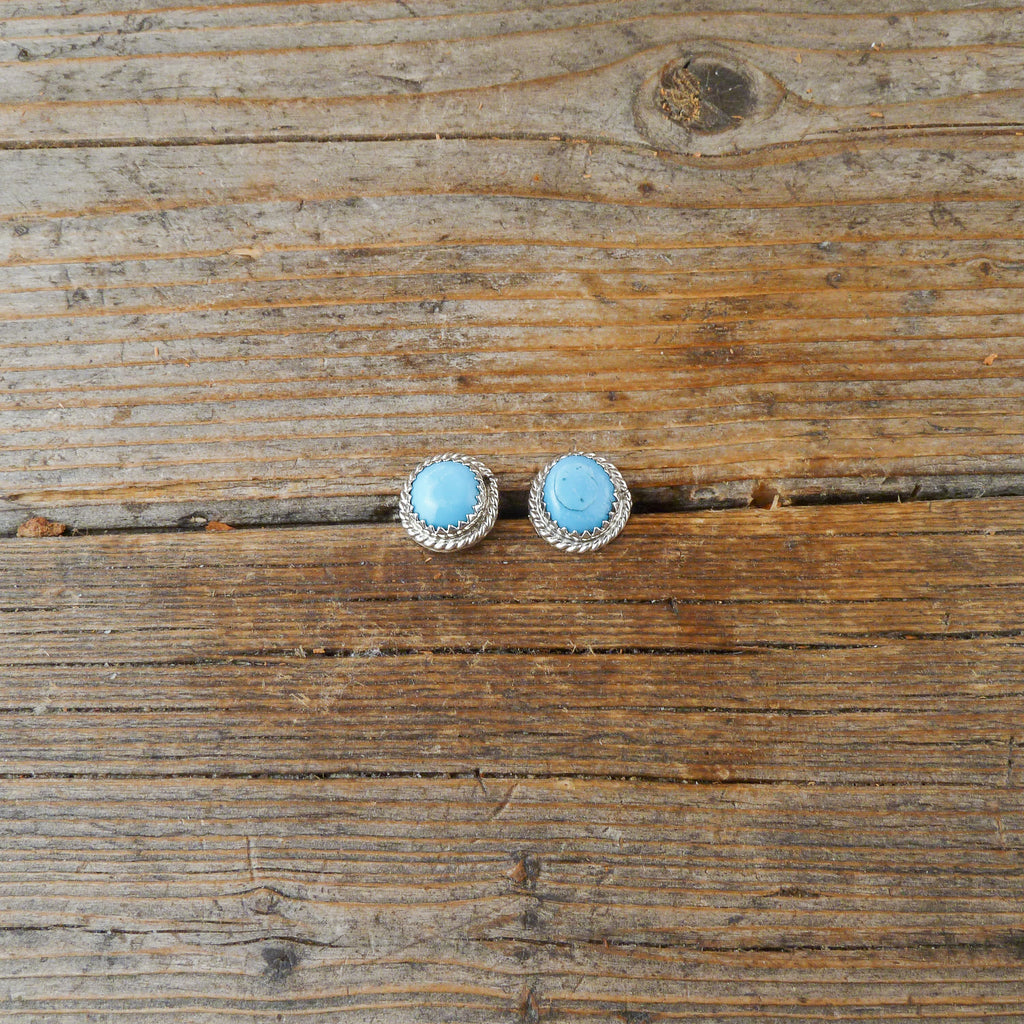 Herbert Spencer Turquoise Stud Earrings