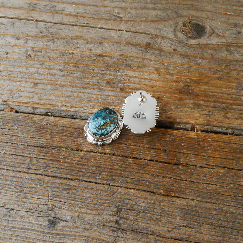 Speckled Turquoise Round Earrings