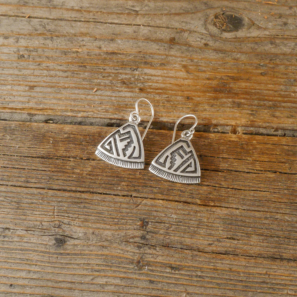 Rick Felipe Silver Etch Earrings