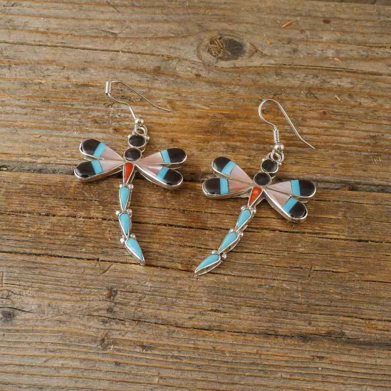 Angus Ahiyite Dragonfly Inlay Earrings