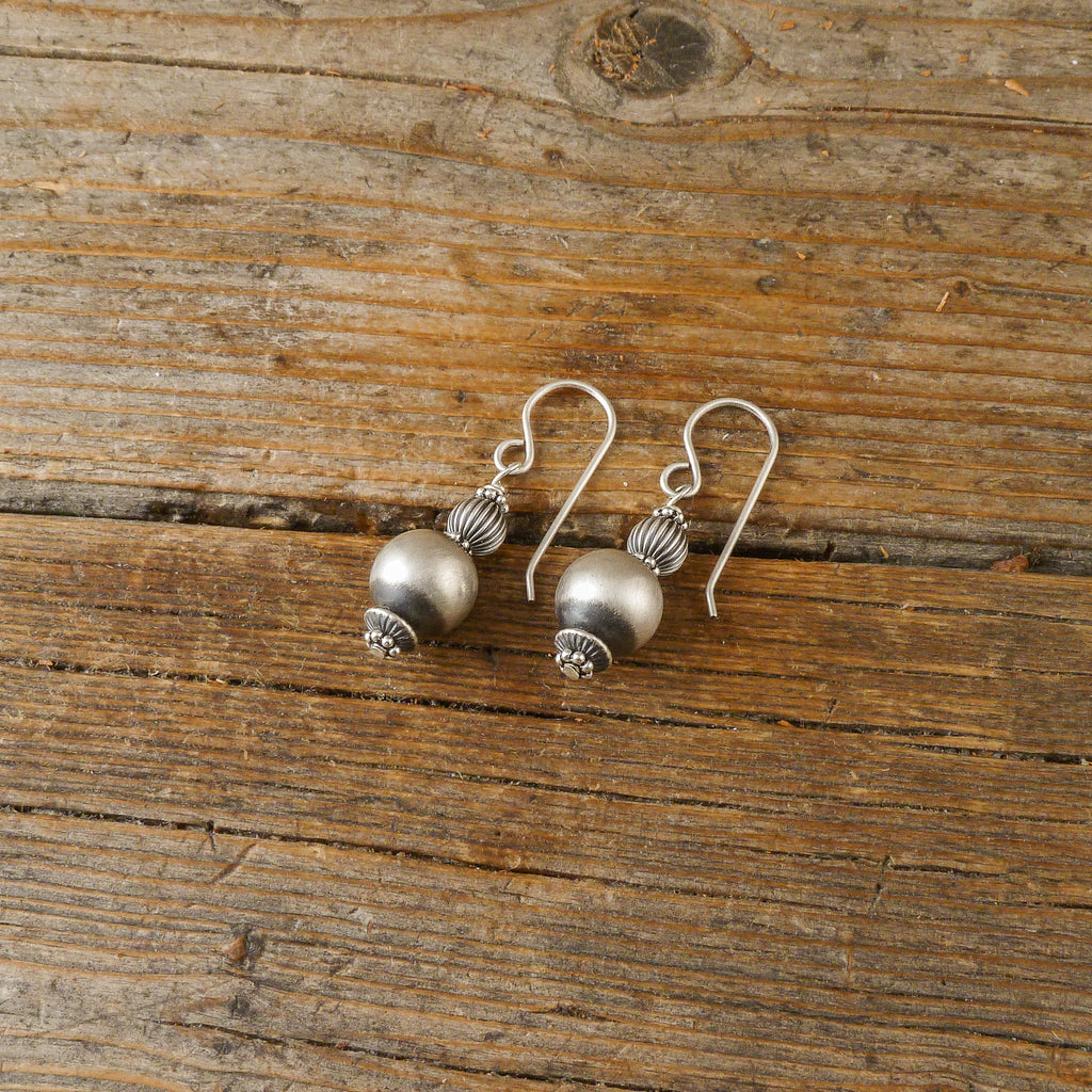 Sterling Silver Bead Earrings