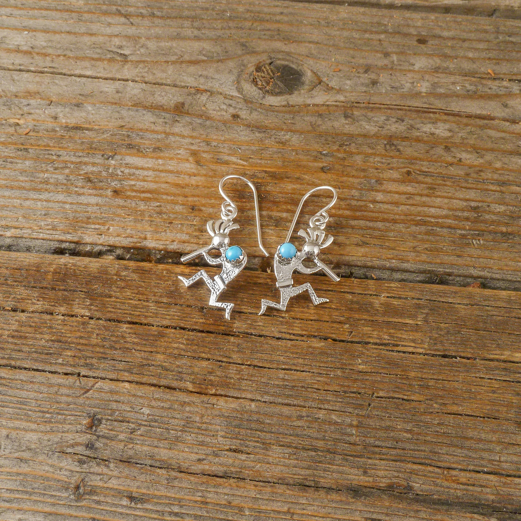 Turquoise Kokopelli Earrings